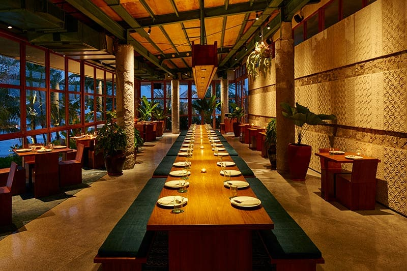 Indonesian Cuisine at a restaurant in Seminyak - potato head beach club. Best restaurant Seminyak