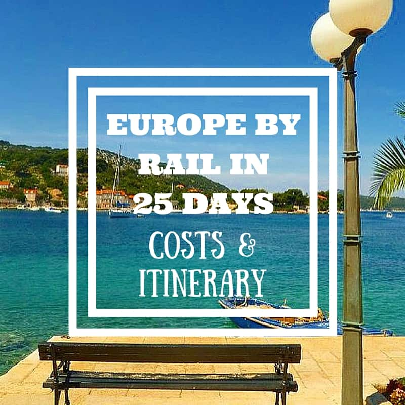 Europe By Rail In Days Itinerary Costs - European trips