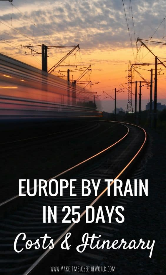 Europe by Train in 25 Days: Costs & Itinerary
