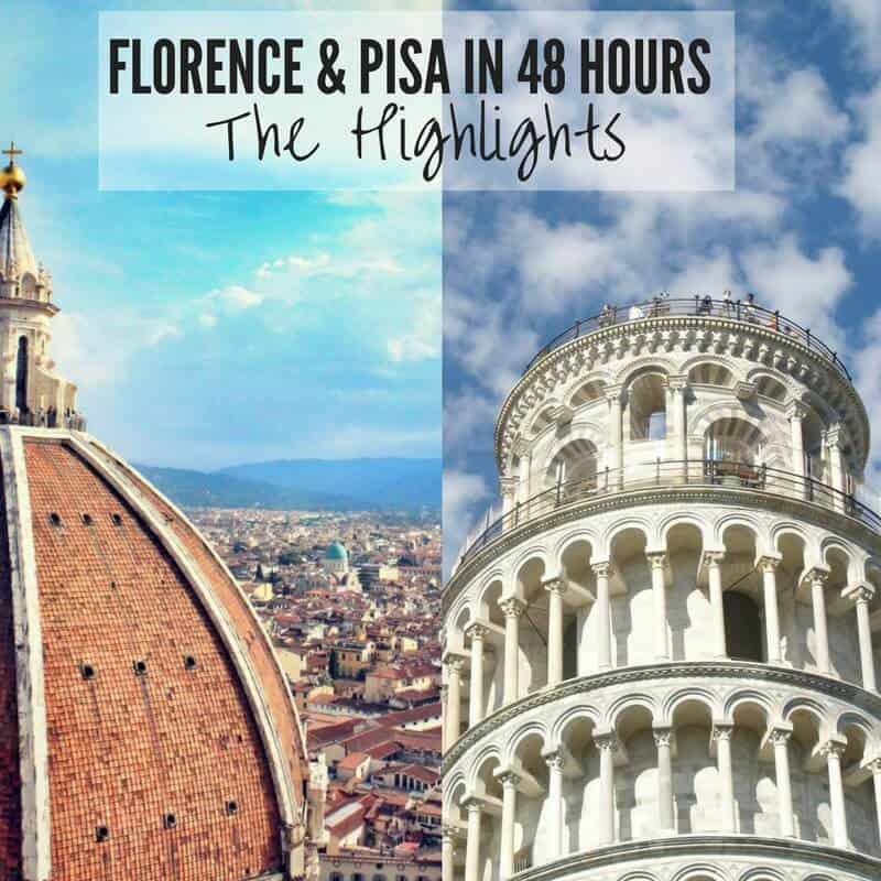 Two City Weekend Break in Florence & Pisa: Top Things To Do