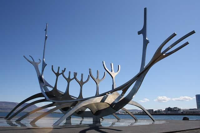 things to see in Iceland: the Solfar Sculpture