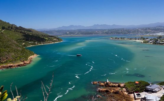 Knysna Lagoon along the garden route in South Africa