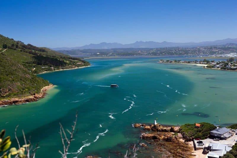 Knysna Lagoon along the garden route in South Africa