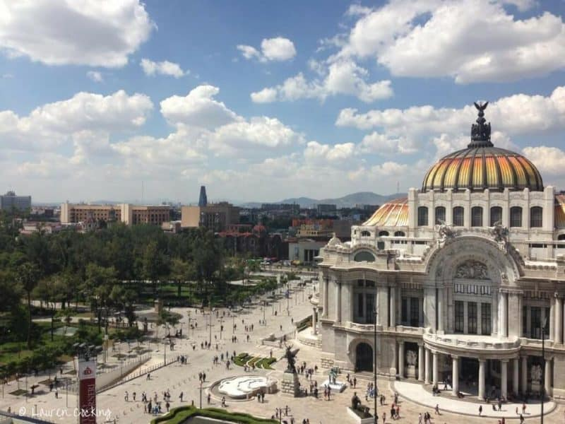 Places to visit in Mexico City - the view from the top of the buildings