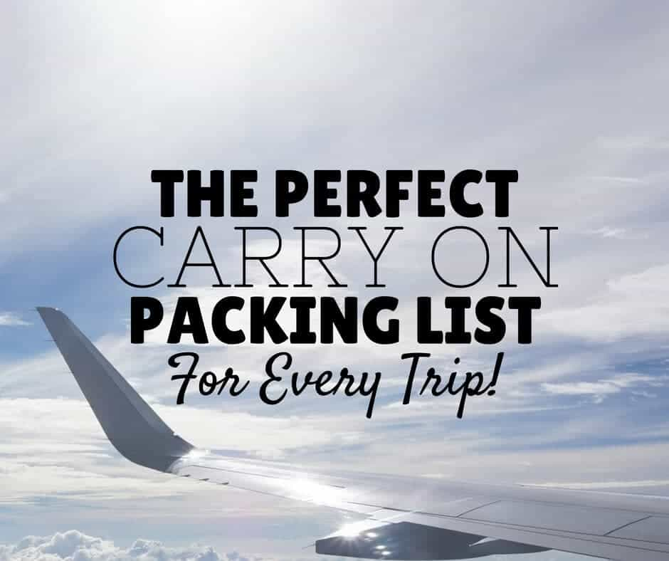 Carry On Packing List | Pack Like A Pro