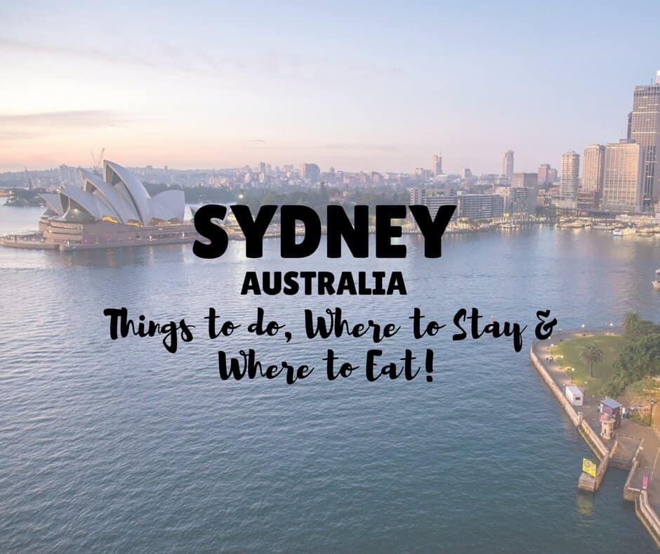 Sydney Weekender Guide