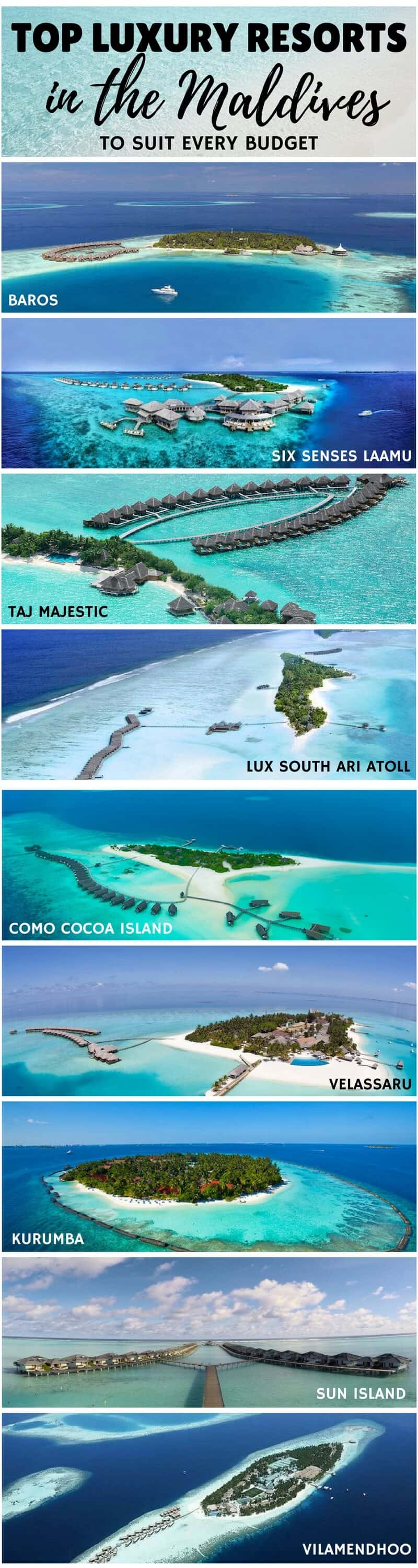 Top Luxury Resorts in the Maldives