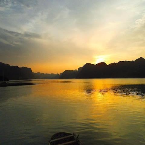 VIETNAM SUNSET - Sunset in Halong Bay, Vietnam - August 2012