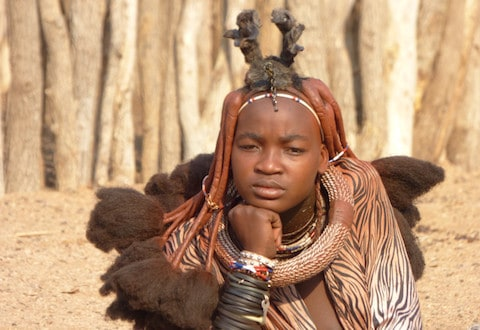 HIMBA LADY - Himba Lady in Namibia - August 2016