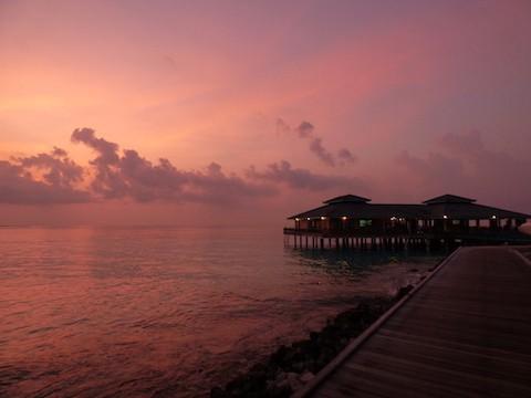 PINK HOUR - Sunset on Sun Island, Maldives - May 2017