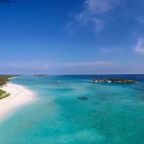 SUN ISLAND JETTY - Sun Island, Maldives - May 2017 (Drone Shot)