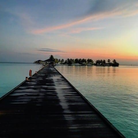 SUNRISE AFTER THE RAIN - Sun Island, Maldives - May 2017