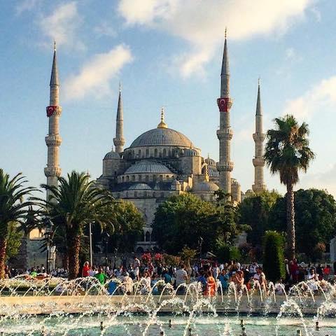 BLUE MOSQUE - Istanbul, Turkey - July 2016