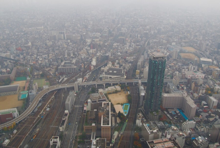 What to see in osaka - View from Abeno Harukas