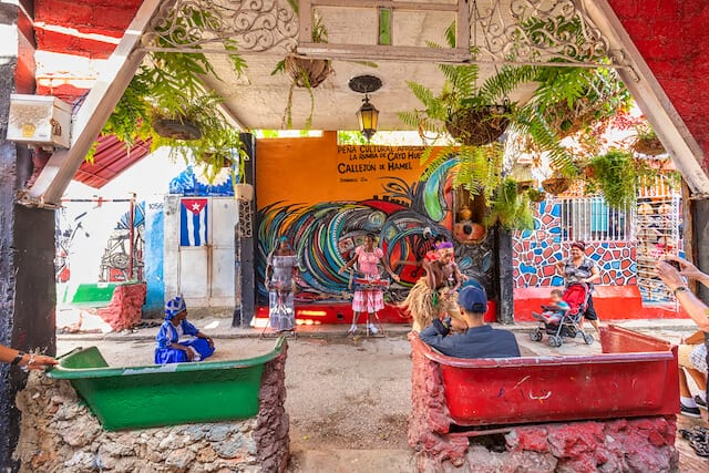 colourful Callejon de Hamel Havana Cuba