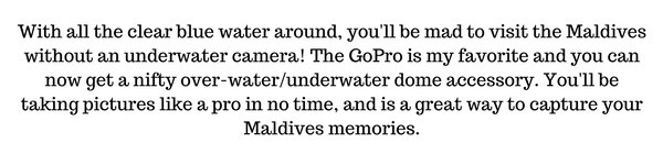 Maldives GoPro accessories