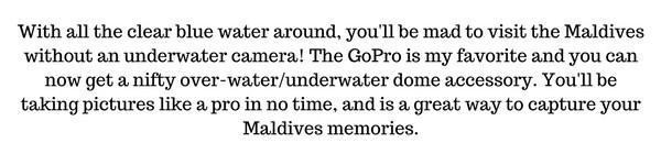 Maldives GoPro accessories
