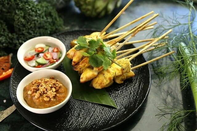 Satay Chicken at a Thai Cooking School