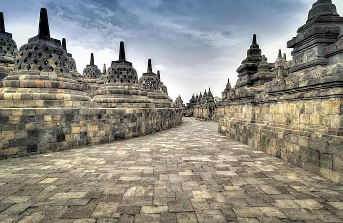 Borobudor - biggest buddhist temple in Asia