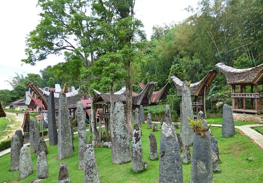 Menhir & Megalith stones in Toraja South Sulawesi