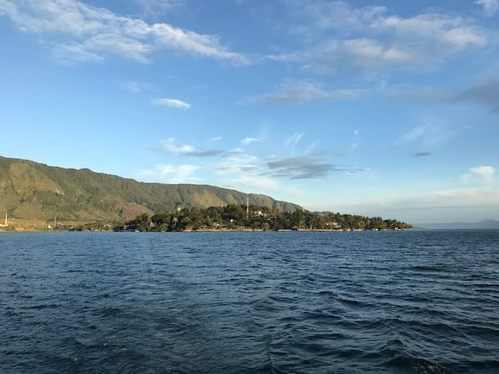 Samosir Island in the middle of Lake Toba