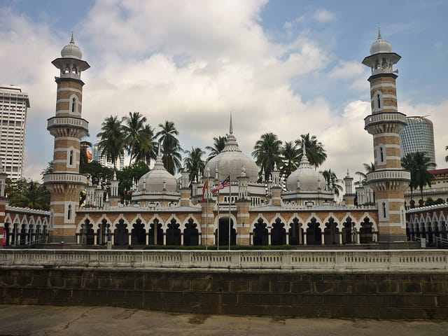 Jamek Mosque Kuala Lumpur Malaysia