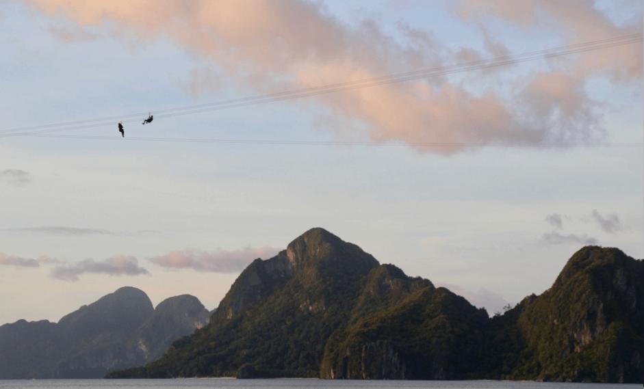 Best Places in Palawan - Las Cabanas Beach Palawan to watch the ziplines