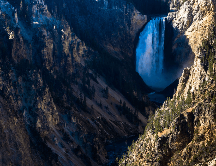 Yellowstone Lower Falls Artists Point 2 - PhotoJeepers (C)