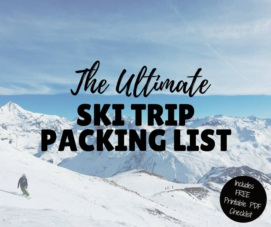 picture relating to Ski Trip Packing List Printable identify Greatest Ski Family vacation Packing Listing Ski Basics (inc Totally free