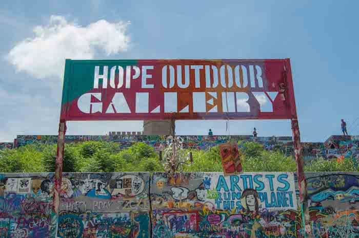 places to visit in austin: the Hope Outdoor Gallery