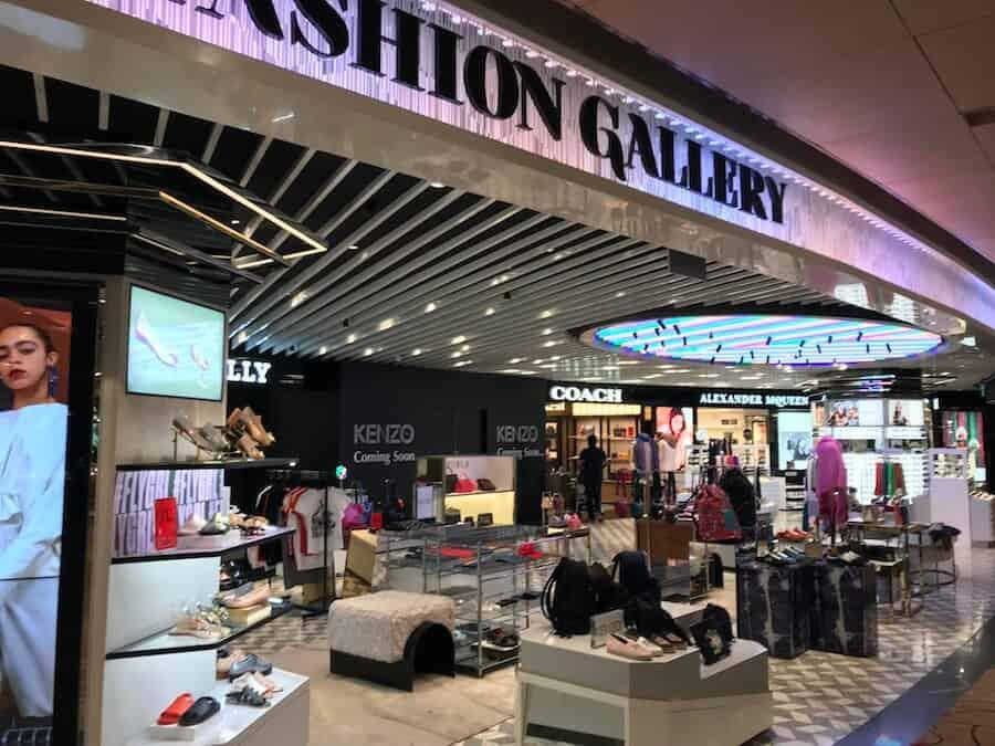 Shopping at Changi