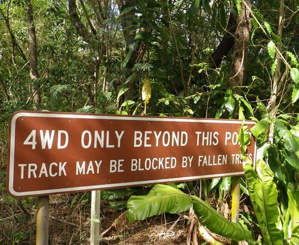 4WD Sign Christmas Island