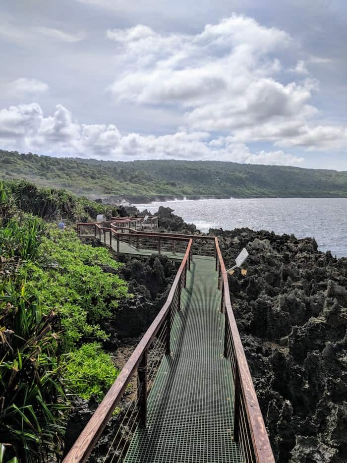 Boardwalk at theBlowholes Christmas Island