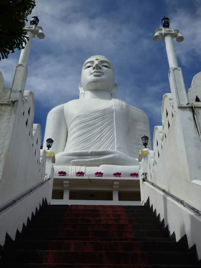 Big Buddha above Kandy City Sri Lanka