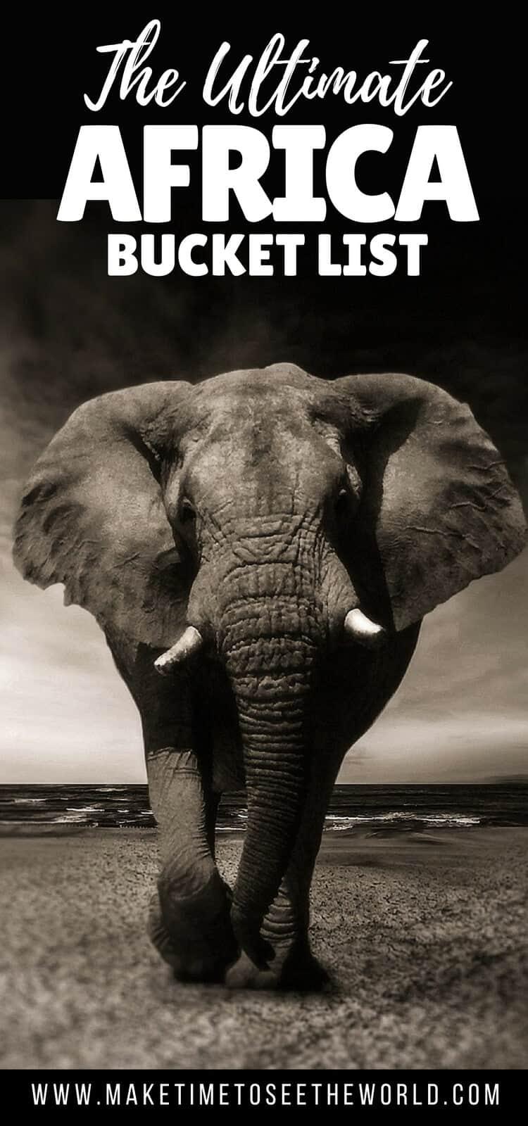 Ultimate Africa Bucket List