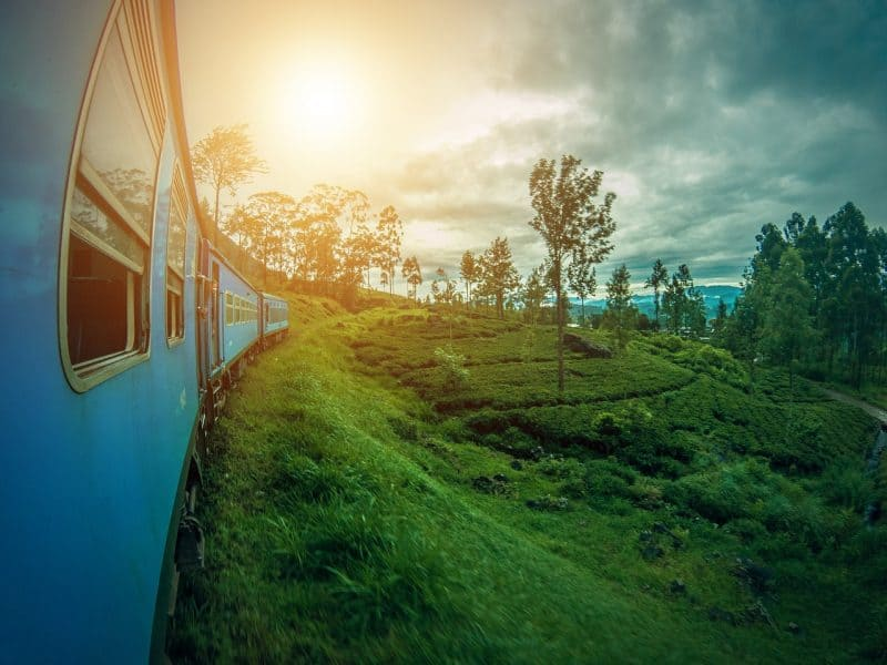Travel on the Blue Trai from Colombo to Kandy on your Sri Lanka Safari