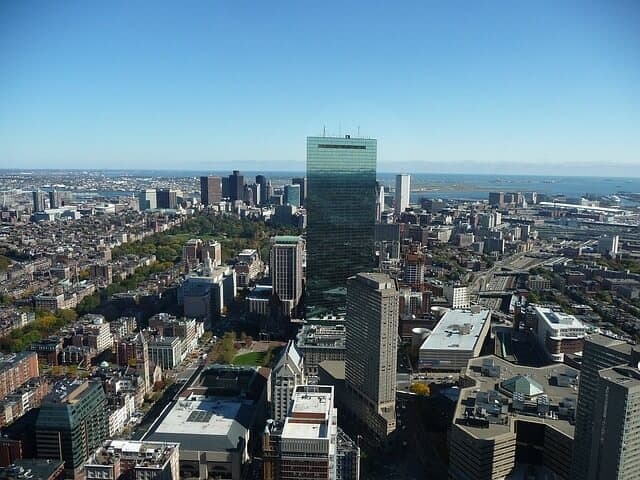 View from the Top of the Boston Prudential Tower