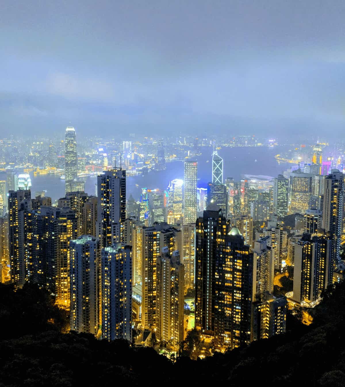 Hong Kong Itinerary - View from Victoria Peak at Night