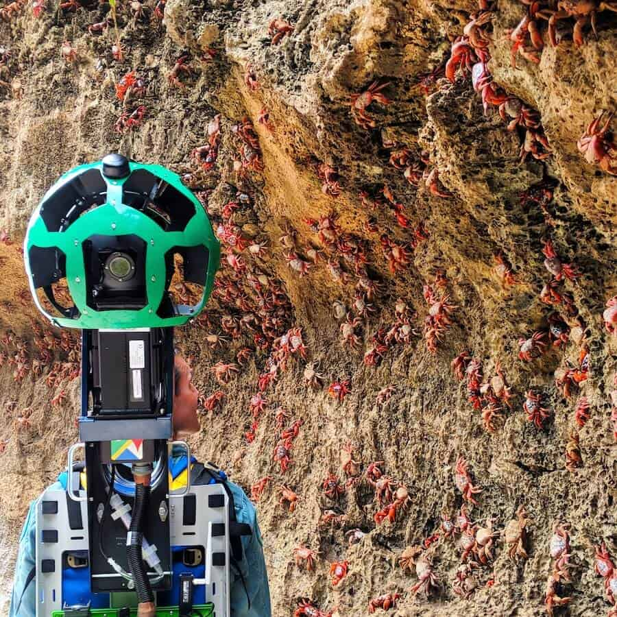 Google Street View Trekker on Christmas Island