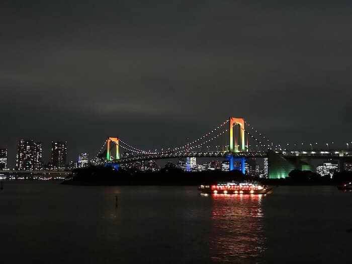 Where to go in Tokyo - a dinner cruise on Tokyo Bay
