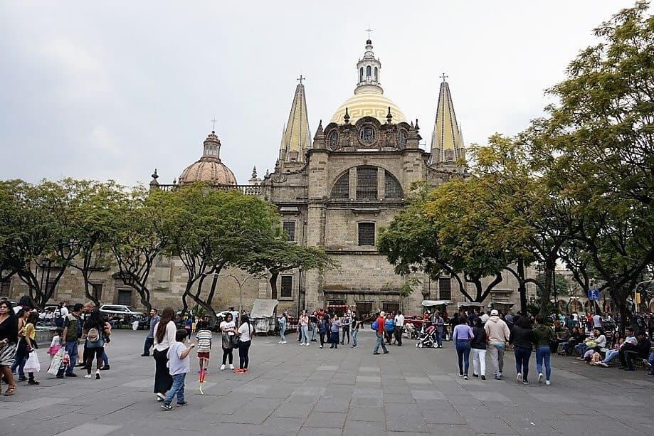 Guadalajara Cathedral from Plaza de la Liberacion