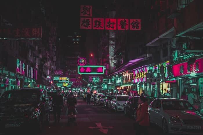 Nathan Road and Jordan Road Neon Signs Hong Kong