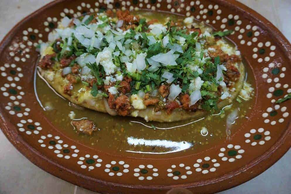 Huarache at market