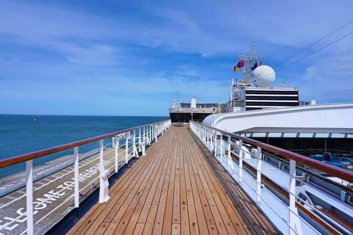Upper Cruise Deck on the Pacific Eden