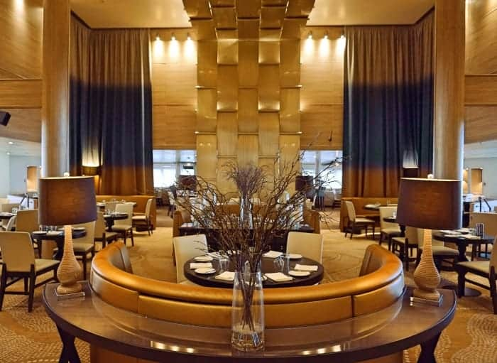 The Waterfron Restaurant on the Pacific Eden P&O Cruise Ship