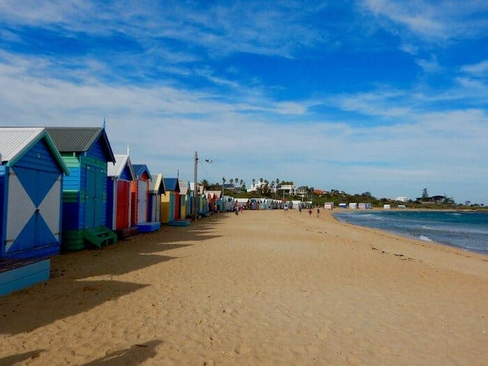 Colourful Beach Boxes at Brighton Beach in Melbourne Victoria