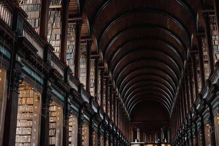 Long Room at Trinity College Ireland