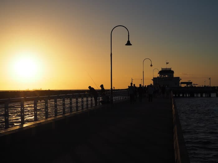 Sunset at St Kilda Pier