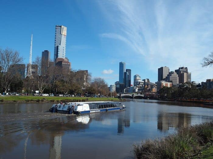 The Yarra River with Melbourne CBD in the background