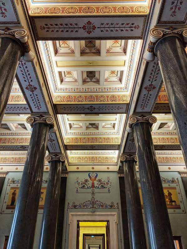 Amazing Ceiling in the State Museum St Petersburg Russia